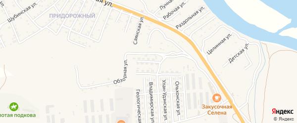 Транспортная улица на карте села Сотниково с номерами домов