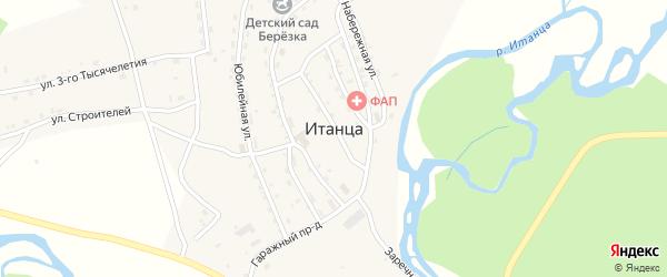 Комсомольская улица на карте села Итанца с номерами домов