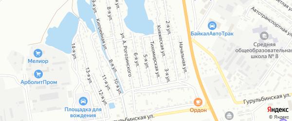 Улица 5-я (ДНТ Сокол) на карте Улан-Удэ с номерами домов