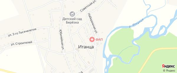 Рабочая улица на карте села Итанца с номерами домов