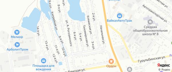 4-я улица на карте территории СНТ Коммунальника с номерами домов