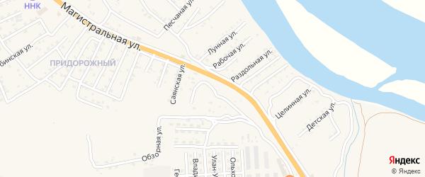 Тверская улица на карте села Сотниково с номерами домов
