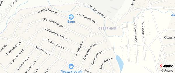Лазурная улица на карте территории ДНТ Лика с номерами домов