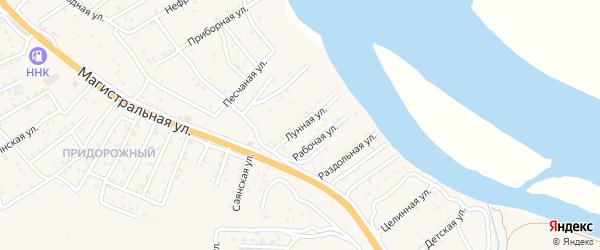 Лунная улица на карте Улан-Удэ с номерами домов