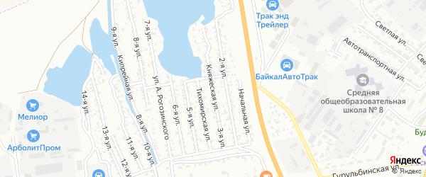 3-ая улица на карте территории СНТ Сибиряка с номерами домов