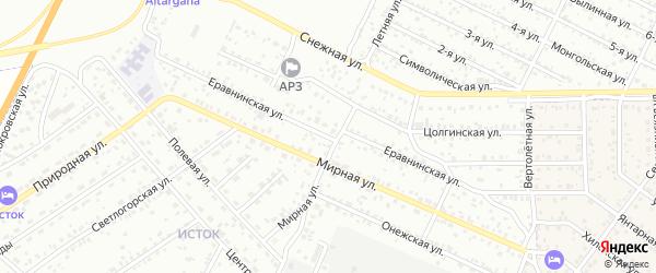Еравнинская улица на карте Улан-Удэ с номерами домов