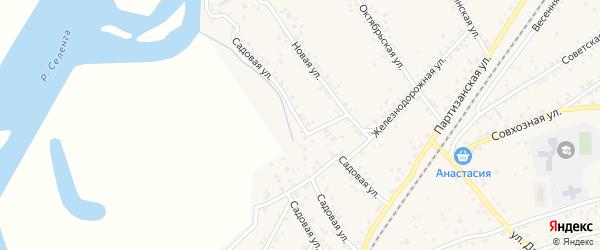 Садовая улица на карте села Нижнего Саянтуя с номерами домов