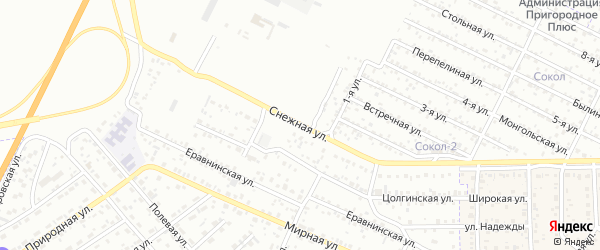Снежная улица на карте Улан-Удэ с номерами домов