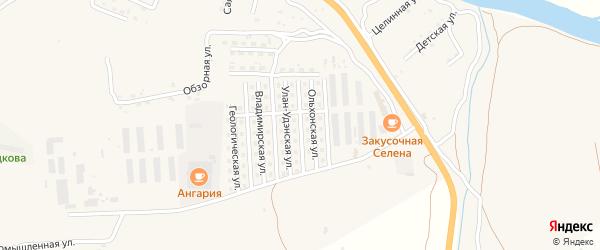 Улан-Удэнская улица на карте села Сотниково с номерами домов