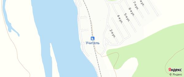 Варшавская улица на карте территории СНТ Учителя с номерами домов