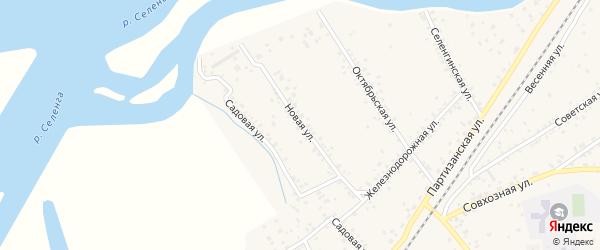 Новая улица на карте села Нижнего Саянтуя с номерами домов