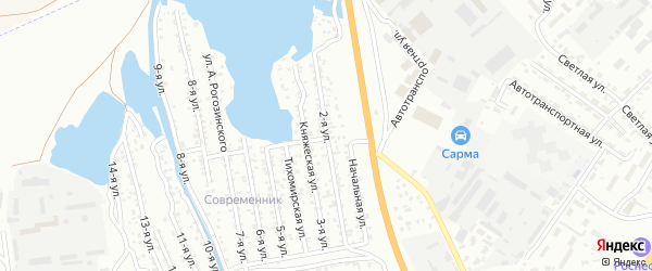 Улица 2-я (ДНТ Современник) на карте Улан-Удэ с номерами домов