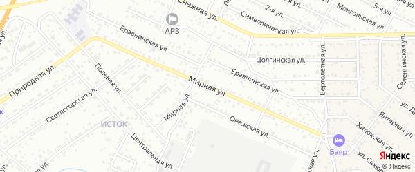 Улица Мирная квартал Северный на карте села Сужа с номерами домов