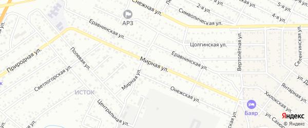 Мирная улица на карте Улан-Удэ с номерами домов