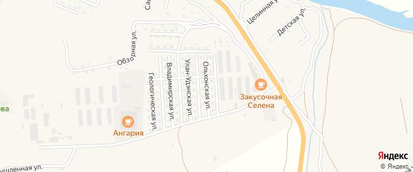 Ольхонская улица на карте села Сотниково с номерами домов