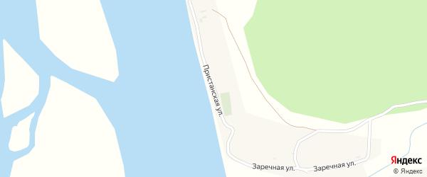 Пристанская улица на карте села Бурдуково с номерами домов