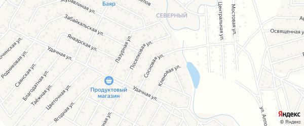 Улица Сосновая квартал Северный на карте села Сужа с номерами домов