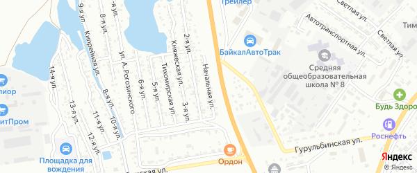 Улица Первое поле на карте Улан-Удэ с номерами домов
