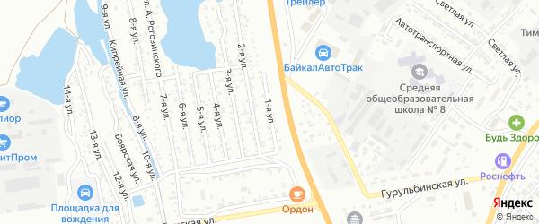 Улица 1-я квартал 7 (СНТ Авиатор) на карте Улан-Удэ с номерами домов