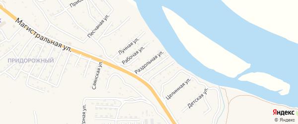 Раздольная улица на карте села Сотниково с номерами домов