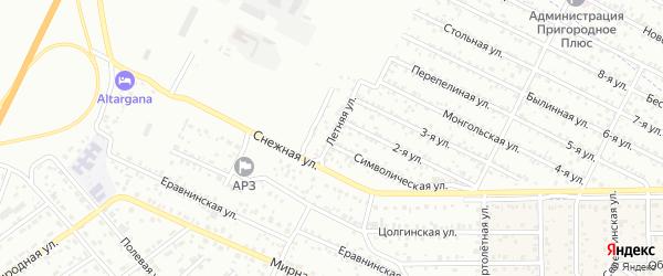 Улица 1-я (ДНТ Весна) на карте Улан-Удэ с номерами домов