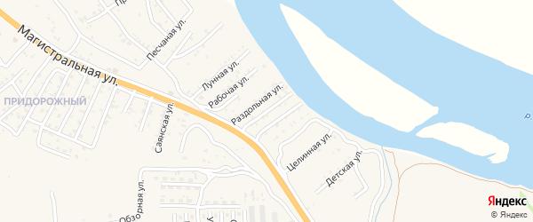 Невская улица на карте села Сотниково с номерами домов