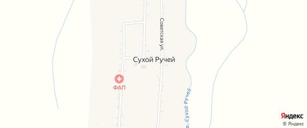 Комсомольская улица на карте села Сухого Ручья с номерами домов