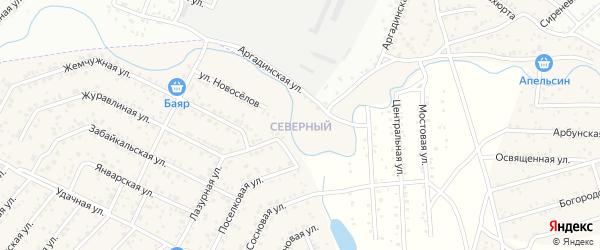Северный квартал на карте села Сужа с номерами домов