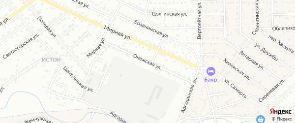 Онежская улица на карте Улан-Удэ с номерами домов