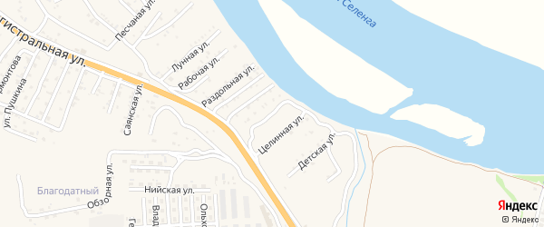Сельская улица на карте села Сотниково с номерами домов