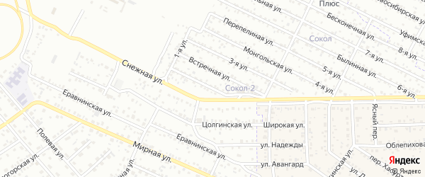 Улица 1-я (ДНТ Современник) на карте Улан-Удэ с номерами домов