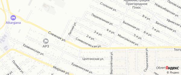 2-ая улица на карте территории ДНТ Сокола 2 Совет. р-он с номерами домов