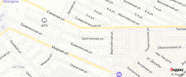 Цолгинская улица на карте села Сужа с номерами домов