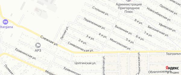 Улица 3-я (СНТ Коммунальник) на карте Улан-Удэ с номерами домов
