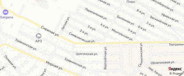 Населенный пункт ДНТ Сокол на карте Улан-Удэ с номерами домов