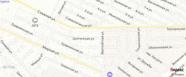 Цолгинская улица на карте Улан-Удэ с номерами домов
