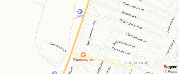 Центральный переулок на карте Улан-Удэ с номерами домов