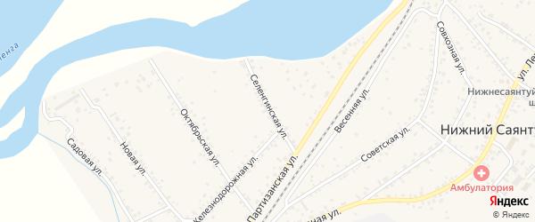Селенгинская улица на карте села Нижнего Саянтуя с номерами домов