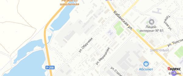 Улица Обручева на карте Улан-Удэ с номерами домов