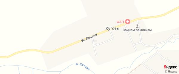 Улица Ленина на карте села Куготы с номерами домов