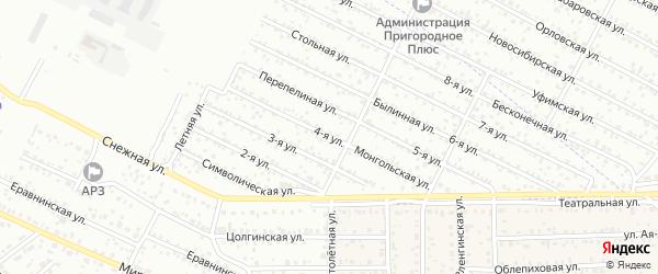 Улица 4-я (ДНТ Сокол) на карте Улан-Удэ с номерами домов