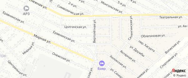 Улица Вертолетная квартал Северный на карте села Сужа с номерами домов