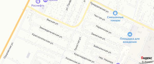 Ямская улица на карте Улан-Удэ с номерами домов