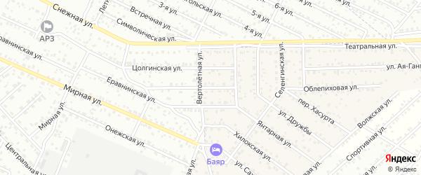 Улица Надежды квартал Северный на карте села Сужа с номерами домов