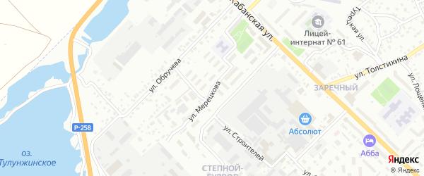 Улица Мерецкова на карте Улан-Удэ с номерами домов