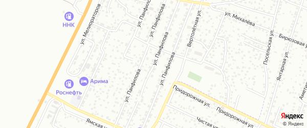Улица Панфилова на карте Улан-Удэ с номерами домов