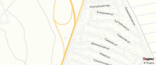 Садовая улица на карте территории ДНТ Дружбы 2 с номерами домов
