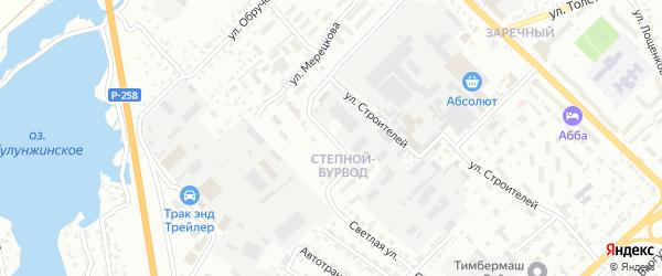 Учебная улица на карте Улан-Удэ с номерами домов