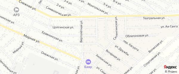 Проезд Луч Надежды5 на карте территории ДНТ Надежды с номерами домов
