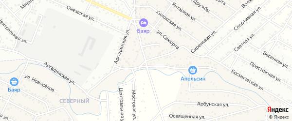 Улица Сиреневая квартал Северный на карте села Сужа с номерами домов